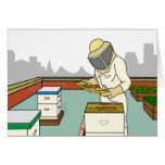 Rooftop Beekeeper - Greeting Card