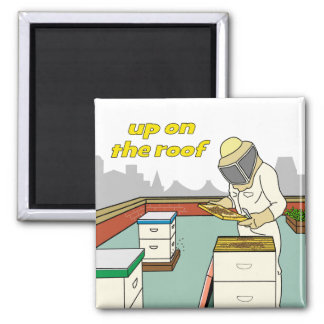 Rooftop Beekeeper - Magnet