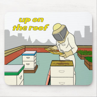 Rooftop Beekeeper - Mousepad