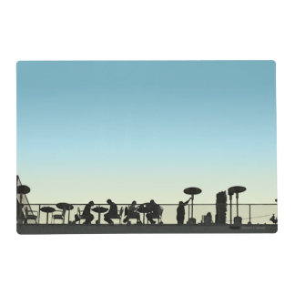 Rooftop Dining At Dusk Silhouette Placemat