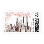 Rooftop Garden A by Ceci New York Postage Stamps