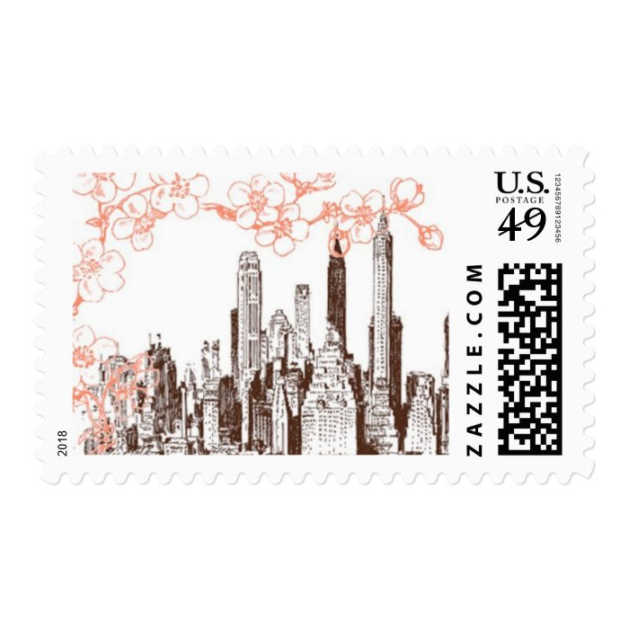 Rooftop Garden A by Ceci New York Stamp