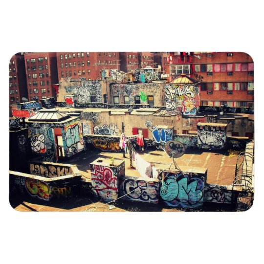 Rooftop Graffiti in Chinatown Magnet