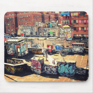 Rooftop Graffiti in Chinatown Mousepad