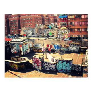 Rooftop Graffiti in Chinatown Post Card