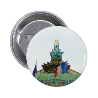 Rooftop of the Opera Garnier in Paris, France Pinback Button