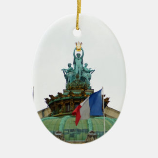 Rooftop of the Opera Garnier in Paris, France Ceramic Ornament
