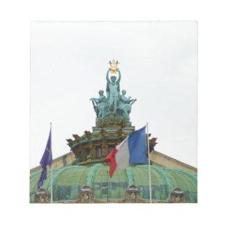 Rooftop of the Opera Garnier in Paris, France Memo Note Pad