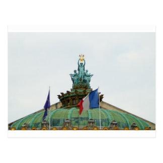 Rooftop of the Opera Garnier in Paris, France Postcard
