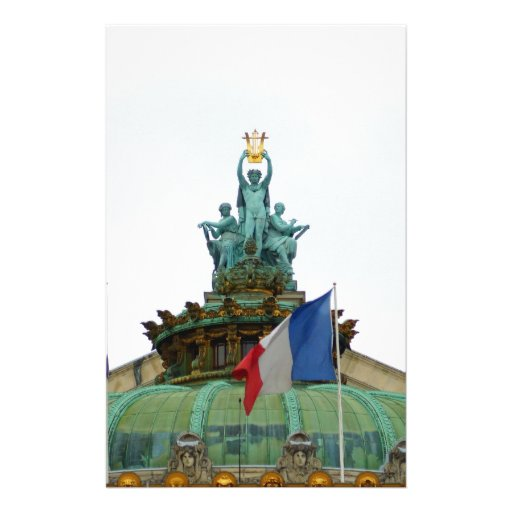 Rooftop of the Opera Garnier in Paris, France Stationery
