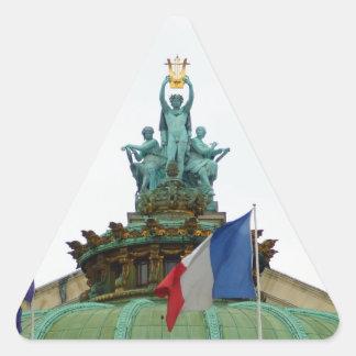 Rooftop of the Opera Garnier in Paris, France Triangle Sticker