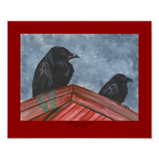 """""""Rooftop Ravens"""" Posters"""