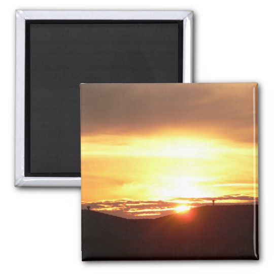 """""""Rooftop Sunset"""" Magnet"""