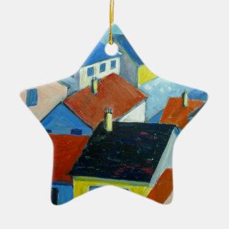 Rooftops1.JPG Ceramic Ornament
