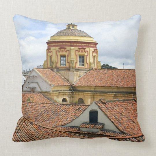 Rooftops in Bogota Throw Pillow
