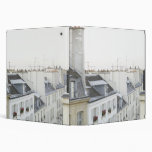 Rooftops in France 3 Ring Binder
