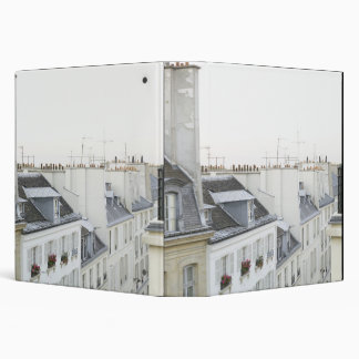 Rooftops in France 3 Ring Binders