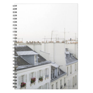 Rooftops in France Spiral Note Book