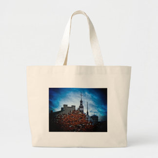 Rooftops in Old Quebec Canvas Bags