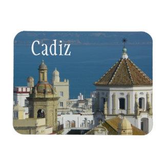 Rooftops, Mediterranean Sea, Cadiz, Spain Magnet