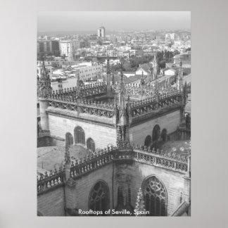 Rooftops of Seville, Rooftops of Seville, Spain Poster