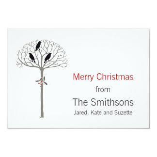 Rook and Holly Christmas Gift Enclosure Cards