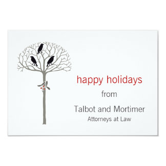 Rook and Holly Holiday Gift Enclosure Cards