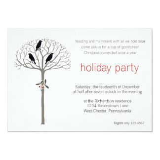 Rook and Holly Holiday Party Custom Invitations