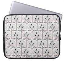Rook and Holly Pattern Christmas Laptop Sleeve