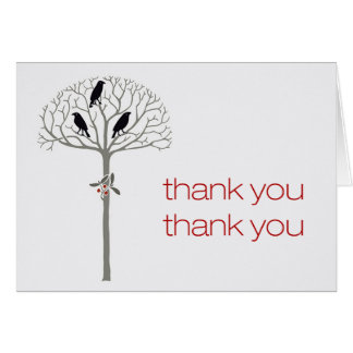 Rook and Holly Thank You Note Cards