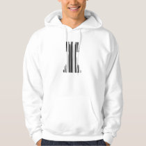 ROOK CHESS PIECE BAR CODE Game Barcode Pattern Hoodie