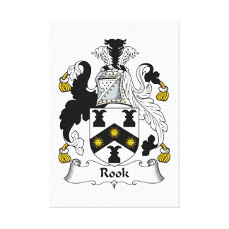 Rook Family Crest Stretched Canvas Print