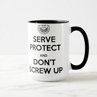 Rookie Blue Serve & Protect Right Hand Mug