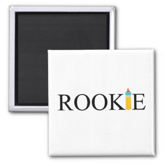 Rookie (Bottle) 2 Inch Square Magnet