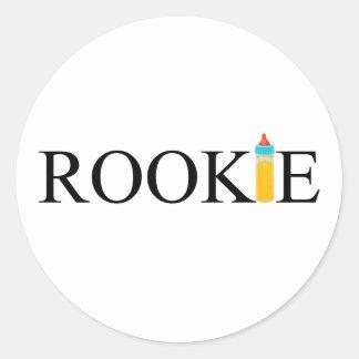 Rookie (Bottle) Classic Round Sticker
