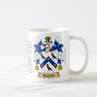 Rooks, the Origin, the Meaning and the Crest Coffee Mug