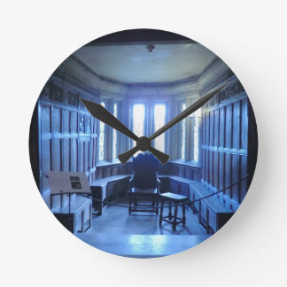 Room at Haddon Hall in Derbyshire Round Wall Clocks