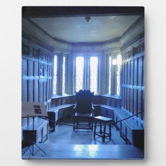 Room at Haddon Hall in Derbyshire Display Plaque