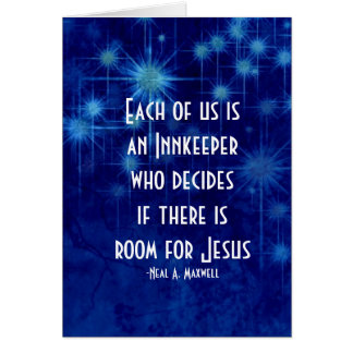 Room For Jesus Christmas Inspirational Quote Card