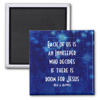 Room For Jesus Inspirational Quote Magnet