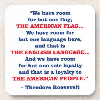 ROOM FOR ONE FLAG BEVERAGE COASTER
