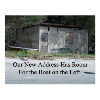 Room For the Boat Funny Change of Address Postcard