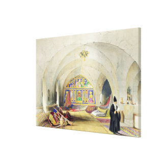 Room in an Armenian Convent, in Jerusalem (colour Canvas Print