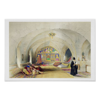 Room in an Armenian Convent, in Jerusalem (colour Poster