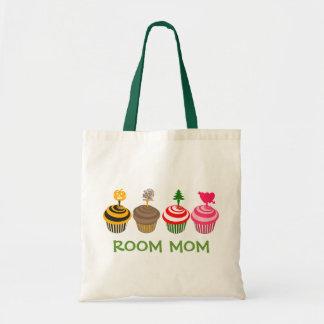 Room Mom Seasonal Cupcakes Tote Budget Tote Bag