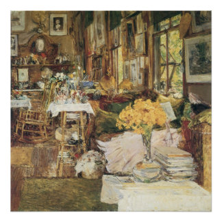 Room of Flowers by Childe Hassam, Vintage Fine Art Poster