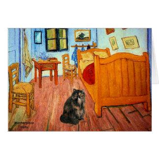 Room - Persian Calico cat Card