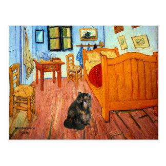 Room - Persian Calico cat Postcard