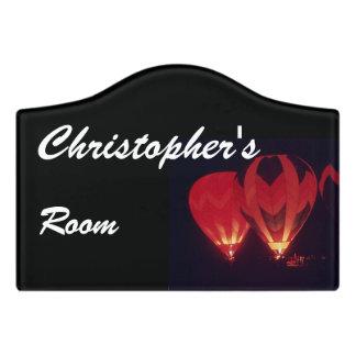 Room Sign - Hot Air Balloon's in Dark Door Sign