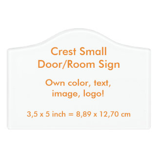 Room Sign uni White ~ Own Color Door Sign